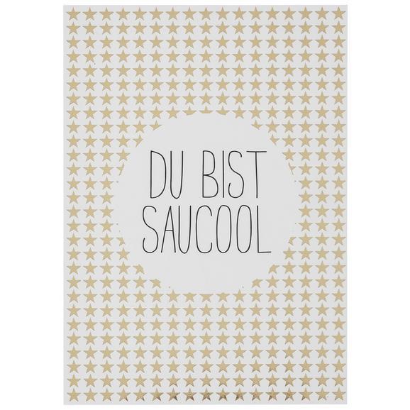 Postkarte Du bist Saucool - Goldfarben/Schwarz, MODERN, Papier (10,5/14,8cm)