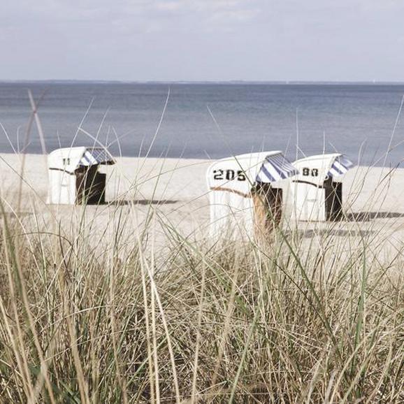Steklena Slika My Little Beach Chairs - večbarvno, Moderno, steklo (30/30/2cm) - Mömax modern living