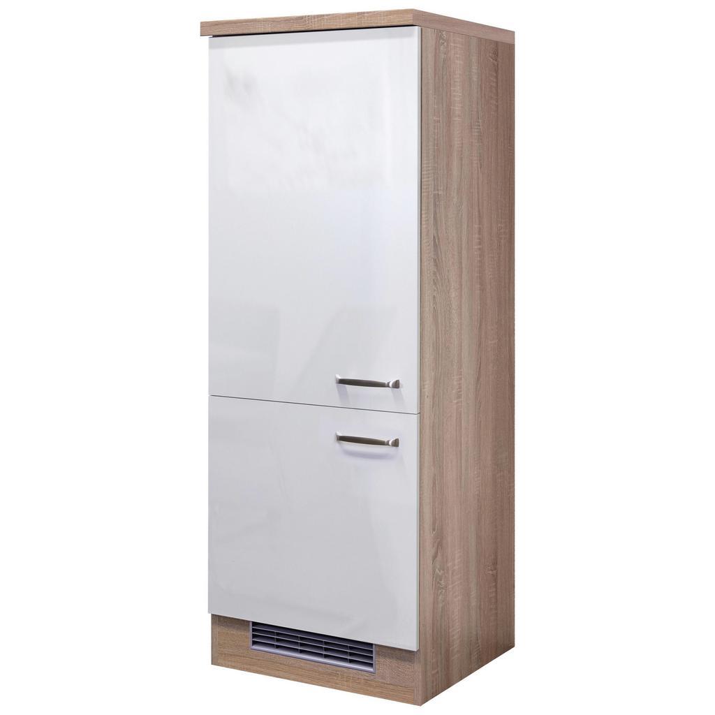 Geräteumbauschrank Weiß Hochglanz/Eiche | Küche und Esszimmer > Küchenschränke > Umbauschränke | Eiche -  weiß | Eiche - Sonoma | MÖMAX