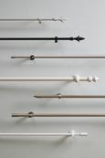 Vorhangstangenset Tonne aus Metall, ca. 140cm - Edelstahlfarben, Metall (140cm) - Mömax modern living
