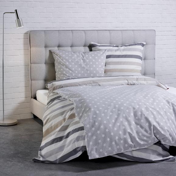 Bettwäsche S. Oliver Renforcé Baumwolle - Beige/Silberfarben, MODERN, Textil (155x220/80x80cm) - S. Oliver