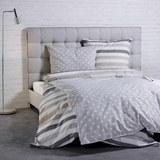 Bettwäsche S. Oliver Renforcé Baumwolle - Beige/Weiß, MODERN, Textil (135x200/80x80cm) - S. Oliver