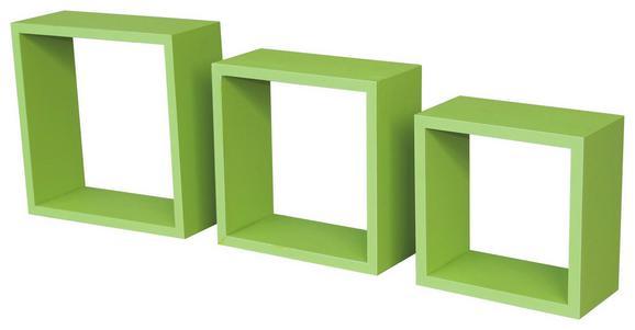 Falipolc Simple - zöld, modern, műanyag/faanyagok (30/30/12cm)