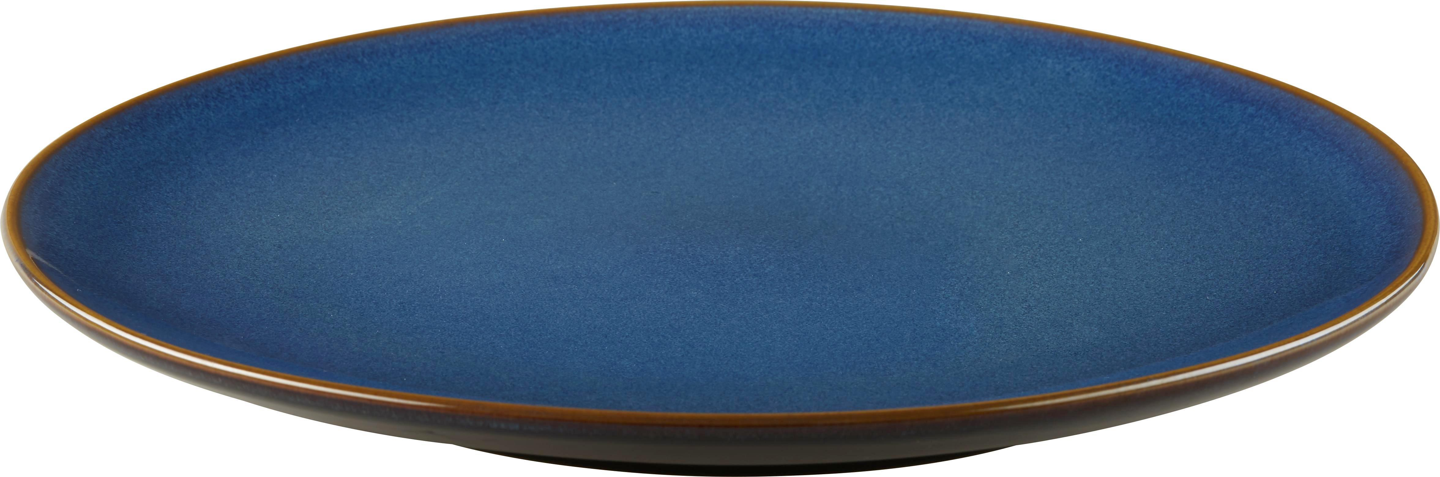 Lapostányér Uri - kék, Lifestyle, kerámia (26cm) - MÖMAX modern living