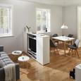 Wohnwand in Weiß 'Basic' - Weiß, MODERN, Holzwerkstoff (178/111/34cm) - Bessagi Home