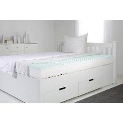 Viscomatratze ca. 90x200cm - Weiß/Grün, Textil (90/200cm) - Nadana