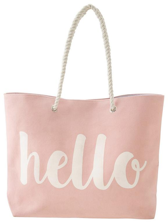 Strandtasche Hello Rosa - Rosa, Textil (44/15cm) - MÖMAX modern living