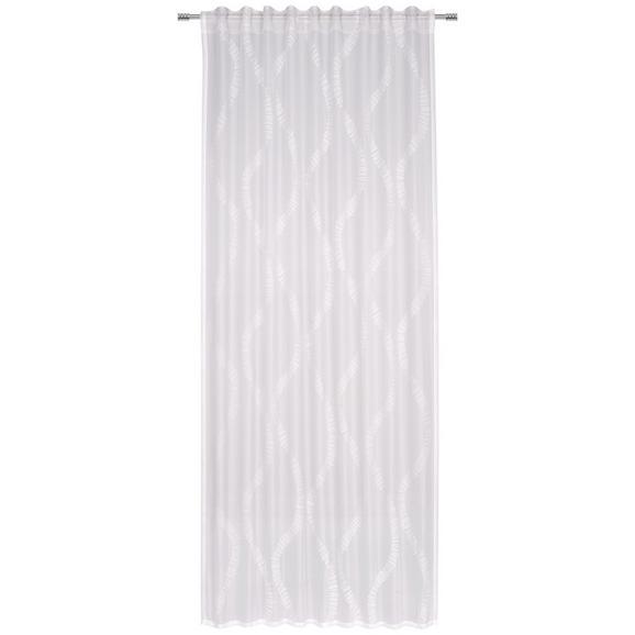 Fertigvorhang Gabriella verschiedenen Farben - Hellgrau/Weiß, Textil (140/245cm) - Mömax modern living