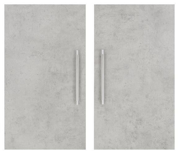 Türenset in Weiß/Grau - Alufarben/Grau, MODERN, Holzwerkstoff/Metall (75,6/67,4cm) - MÖMAX modern living