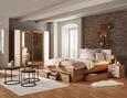 Bett in Eichefarben ca.180x200cm - Eichefarben, KONVENTIONELL, Holzwerkstoff/Textil (208/185/104cm) - Modern Living