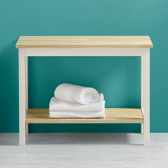 Badezimmerregal Jule - Eichefarben/Weiß, MODERN, Holz (60/45/33cm) - MODERN LIVING