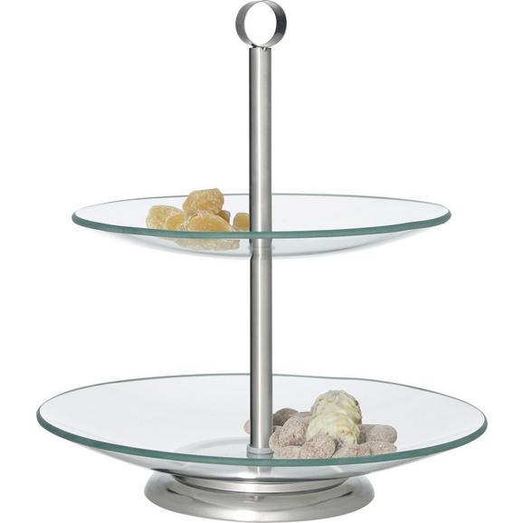 Etagere LEONIE  aus Glas/Metall - Klar, Metall (21+25cm) - Mömax modern living