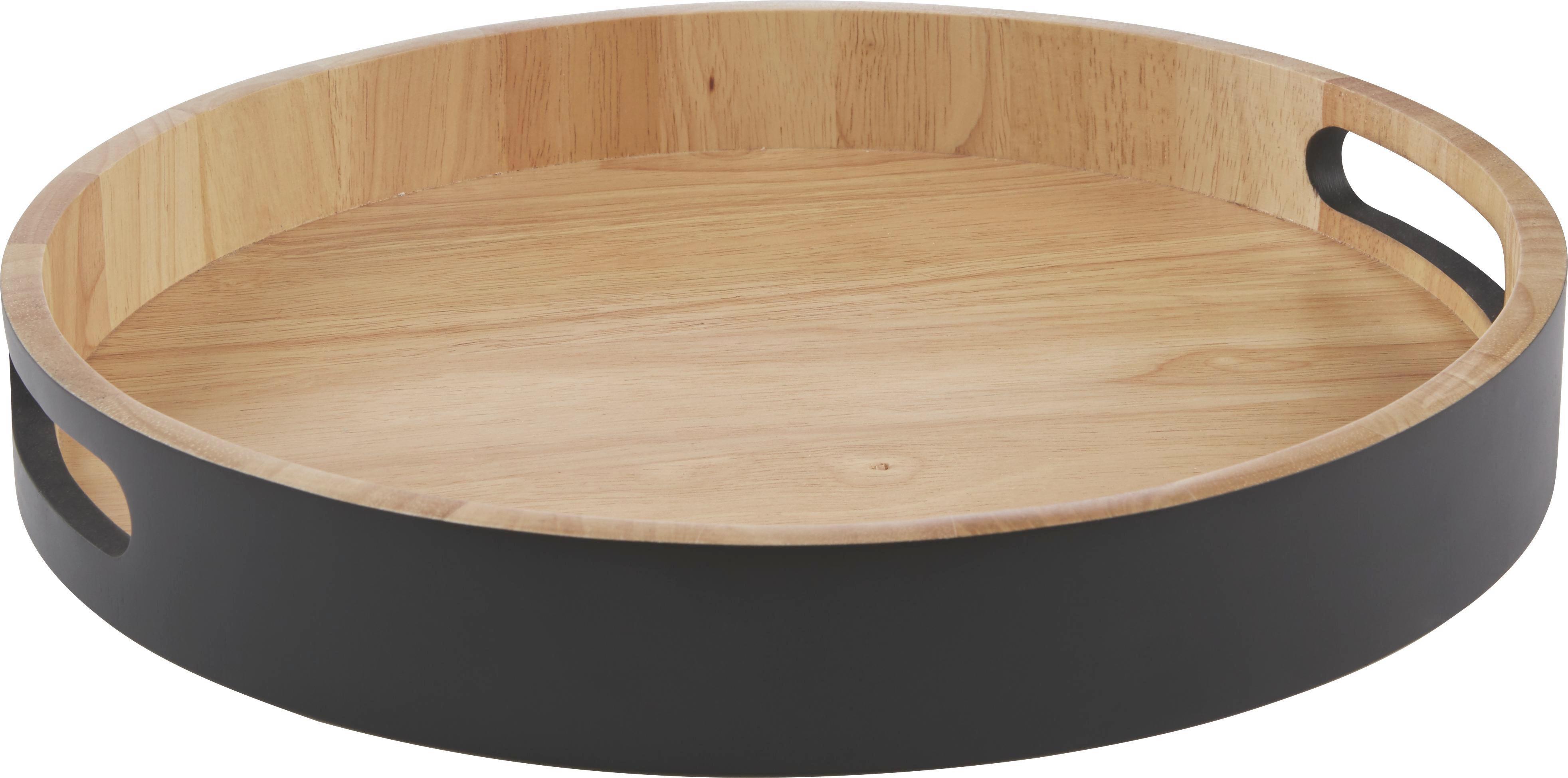 Tálca Sirikit - natúr színek/fekete, Lifestyle, fa (35/5cm) - MÖMAX modern living