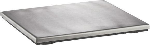 Topfuntersetzer Edelstahl - Edelstahlfarben, Metall (15/15cm) - Mömax modern living