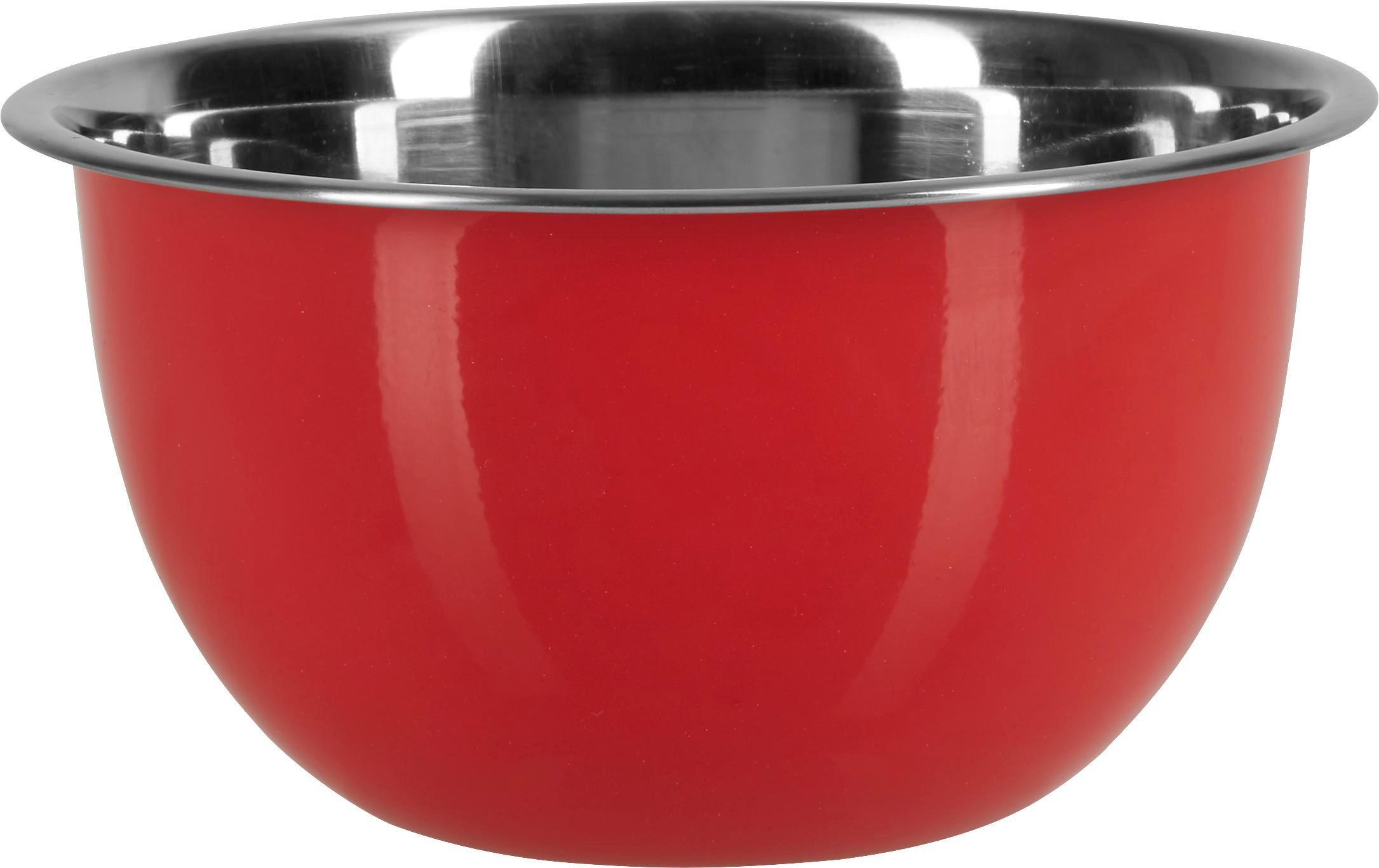 Schüssel Dani in Rot, Ø ca. 18cm - Edelstahlfarben/Rot, Metall (18/9,5cm) - MÖMAX modern living