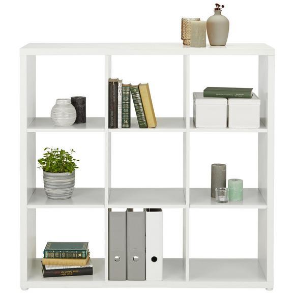 Raumteiler in Weiß - Weiß, MODERN, Holzwerkstoff/Kunststoff (111/111/34cm) - Modern Living