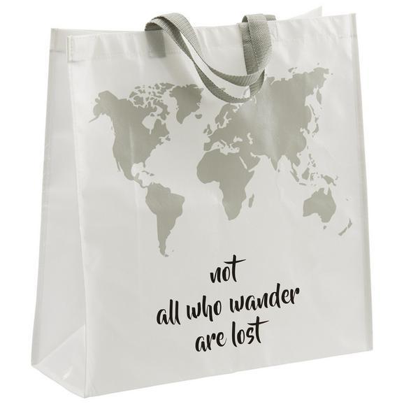 Einkaufstasche Wander aus Kunststoff - Hellgrau/Weiß, MODERN, Kunststoff (45/47/17,5cm) - Mömax modern living