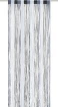 Nitasta Zavesa String - črna/bela, tekstil (90/245cm) - Premium Living