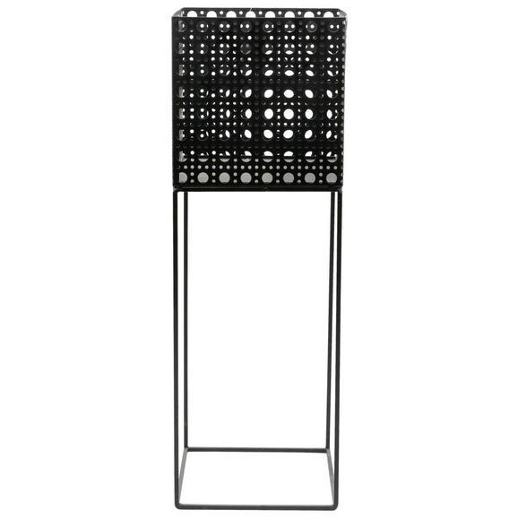 Ghiveci Decorativ Mesh - negru, metal (20/60,5/20cm) - Modern Living