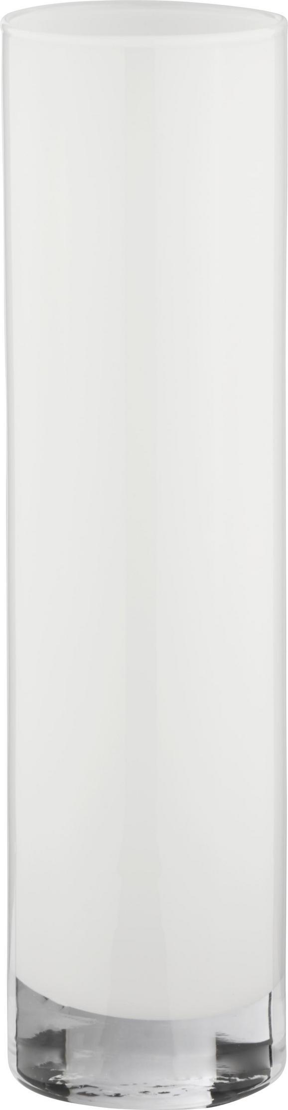 Vase Vivien II in Weiß aus Glas - Weiß, MODERN, Glas (8/30cm) - Mömax modern living