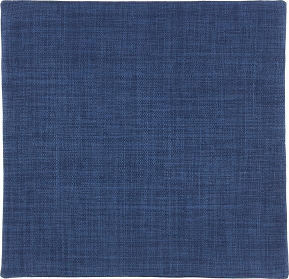 Kissenhülle Leinenoptik, ca. 40x40cm - Dunkelblau, Textil (40/40cm) - Mömax modern living