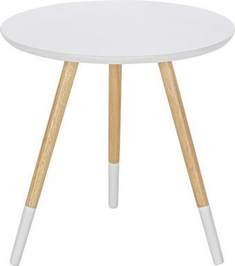 Kisasztal Vicenzo -sb- - natúr színek/fehér, modern, fa/faanyagok (48/46/48cm) - Mömax modern living