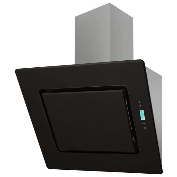 DUNSTABZUGSHAUBE CH 99040-60 S - Edelstahlfarben/Schwarz, Basics, Glas/Metall (60/90-126/41,8cm) - Livetastic