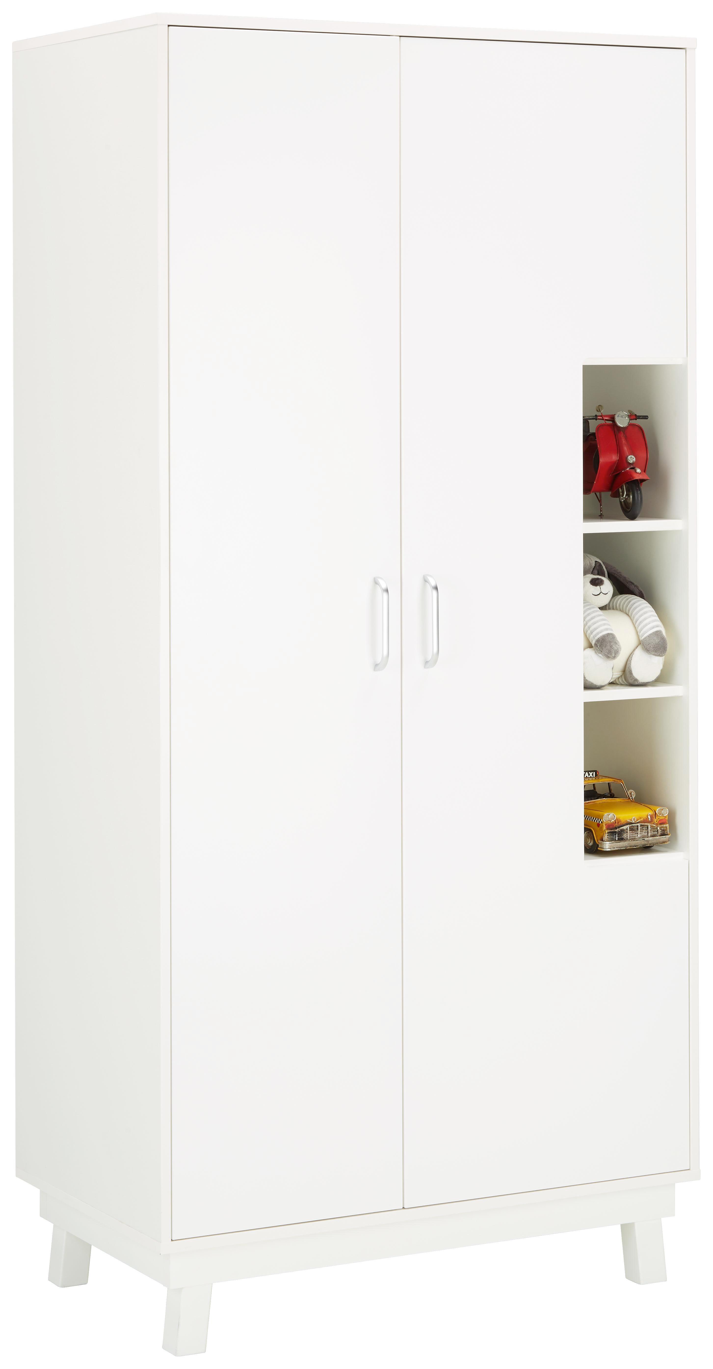 Kleiderschrank In Weiß   Weiß, MODERN, Holz (93/195/55cm)