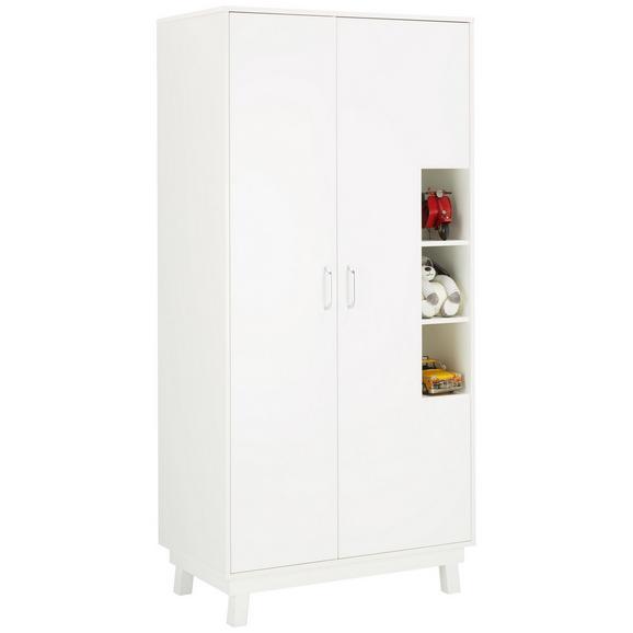 Kleiderschrank in Weiß - Weiß, MODERN, Holz (93/195/55cm) - Premium Living