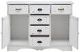 Sideboard Lewis Vintage - Weiß, MODERN, Holz/Metall (120/87/34cm) - Modern Living