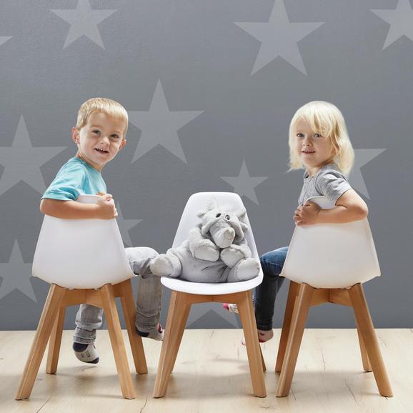 Kinderstuhl Tibby - Weiß, MODERN, Holz/Kunststoff (30/56,5/32,5cm) - Modern Living