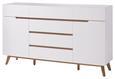 Sideboard Weiß/Eichefarben - Eichefarben/Weiß, MODERN, Holz/Holzwerkstoff (169/101/41cm) - Premium Living