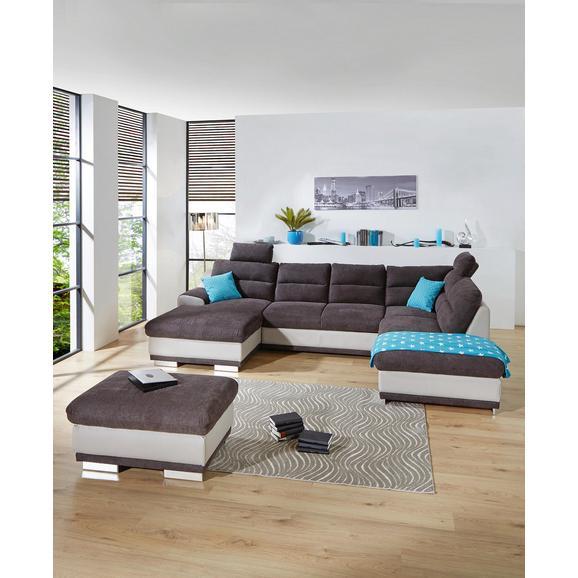 Sedežna Garnitura Seaside - siva/krom, Konvencionalno, kovina/tekstil (165/334/218cm) - Premium Living