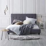 Polsterbett Frederico 180x200cm - Dunkelgrau/Schwarz, MODERN, Holz/Textil (215/189/112cm) - MÖMAX modern living
