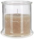 Kerze im Glas Jana in verschiedenen Farben - Klar/Creme, Glas (12/12,5cm) - MÖMAX modern living