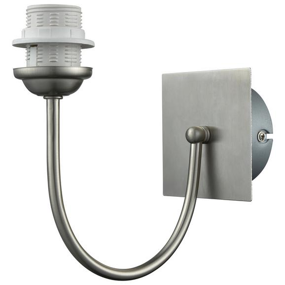 Wandleuchte Walli, max. 60 Watt - Nickelfarben, Metall (19,8/19,8cm) - Mömax modern living