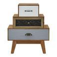 KOMMODE aus Kiefer 'Frame' - Multicolor/Kieferfarben, MODERN, Holz (60/72/34cm) - Bessagi Home