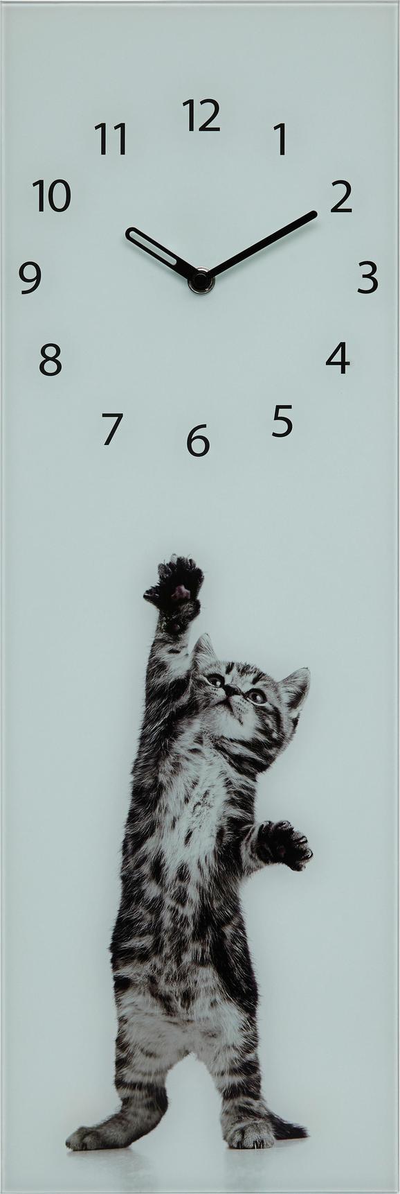 Wanduhr Jumping Kitten, ca.20x60x3,5cm - Schwarz/Braun, MODERN, Glas/Metall (20/60/3,5cm) - MÖMAX modern living