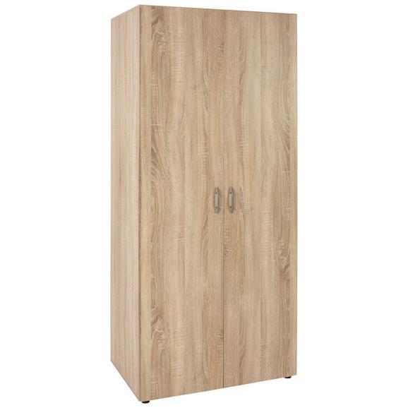 Dulap De Haine 'based' - culoare lemn stejar, Konventionell, compozit lemnos (80/177cm)