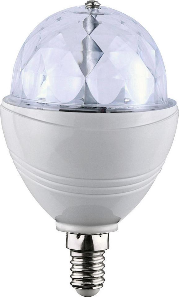 Deko-Leuchtmittel Disco mit 3 Watt - Klar/Weiß, Kunststoff (8/8/13cm)
