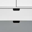 Sideboard Daniela - Weiß/Grau, MODERN, Holz (70/140/38cm) - Modern Living