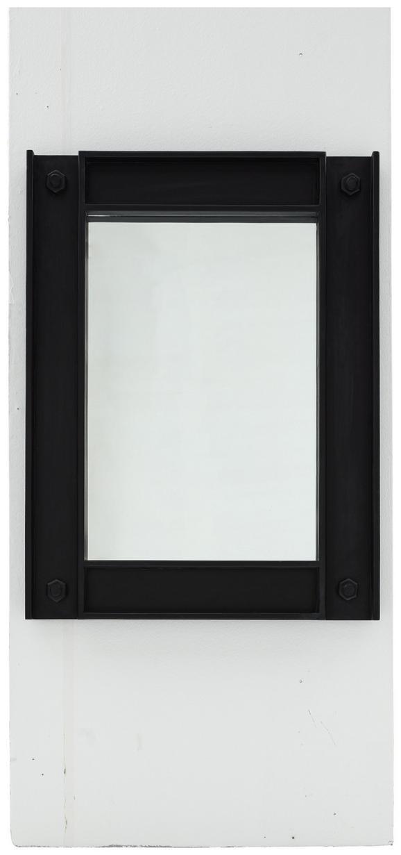 Spiegel Schwarz/Weiß - Schwarz, LIFESTYLE, Holz (90/120/6cm) - Zandiara