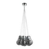 LED-Hängeleuchte max. 19 Watt 'Inna' - Chromfarben/Grau, MODERN, Glas/Metall (45/150cm) - Bessagi Home