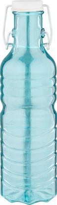 Universalflasche Doris aus Farbglas - Türkis/Pink, Glas (7,5/27cm) - Mömax modern living