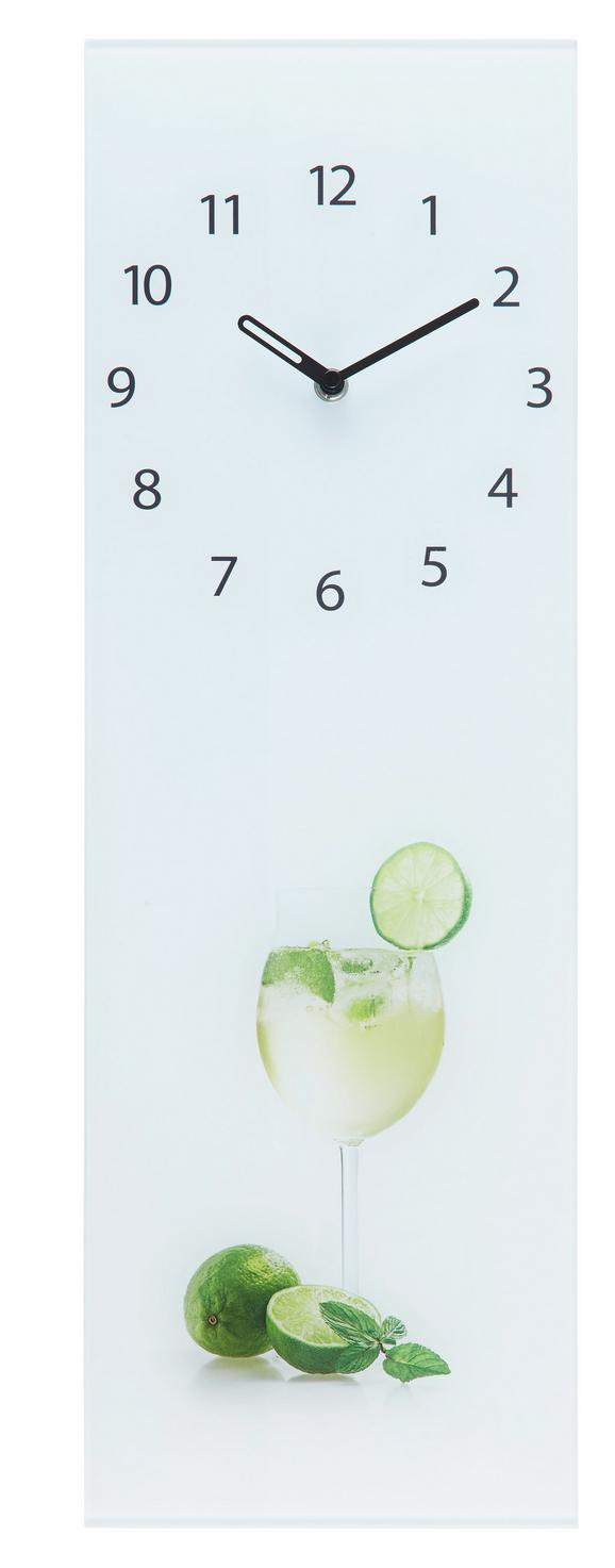 Wanduhr Hugo, ca. 20x60x3,5cm - Multicolor, KONVENTIONELL, Glas/Metall (20/60/3,5cm)
