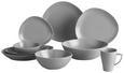 Speiseteller Nele Grau - Grau, MODERN, Keramik (26,3/23/2,5cm) - Premium Living