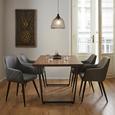 Armlehnstuhl in Grau 'Andre' - Schwarz/Grau, MODERN, Holz/Textil (60/82,5/56cm) - Bessagi Home