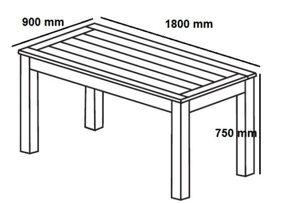 Outdoortisch Henry 180x75 cm - Akaziefarben, MODERN, Holz (180/90/75cm) - MÖMAX modern living