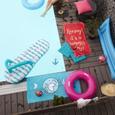 Strandtuch Summer Aus 100% Baumwolle - Blau/Orange, Textil (70/140cm) - Mömax modern living