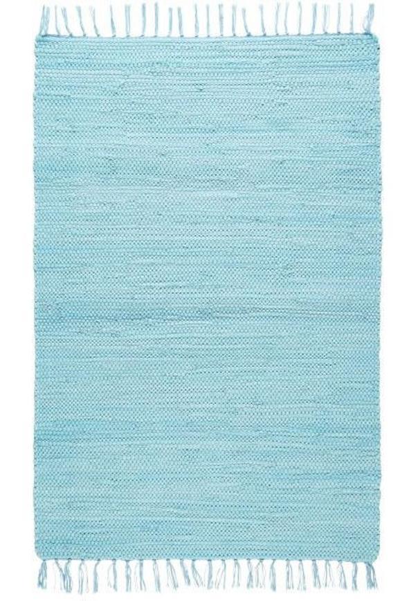 Fleckerlteppich Julia in Blau, ca. 70x230cm - Hellblau, ROMANTIK / LANDHAUS, Textil (70/230cm) - Mömax modern living